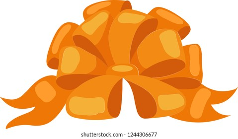 Orange bowknot, can be used for any kinds of decoration