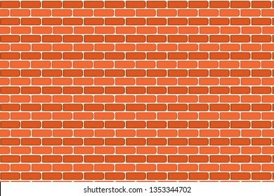 orange brick wall texture background.