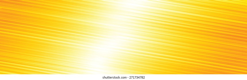 Orange bright lines abstract panoramic background vector illustration.