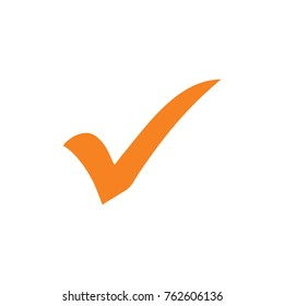 orange check mark icon logo