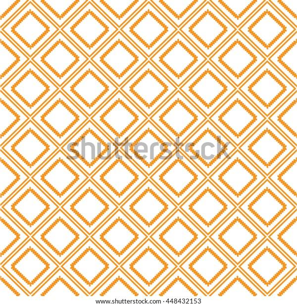 Orange Check Wave Pattern Wave Box Stock Vector (Royalty