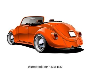 orange classic convertible