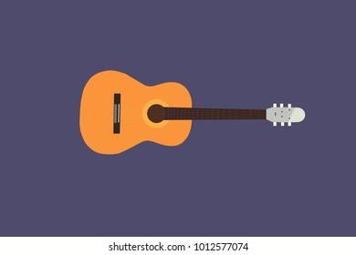 Orange classical guitar model.