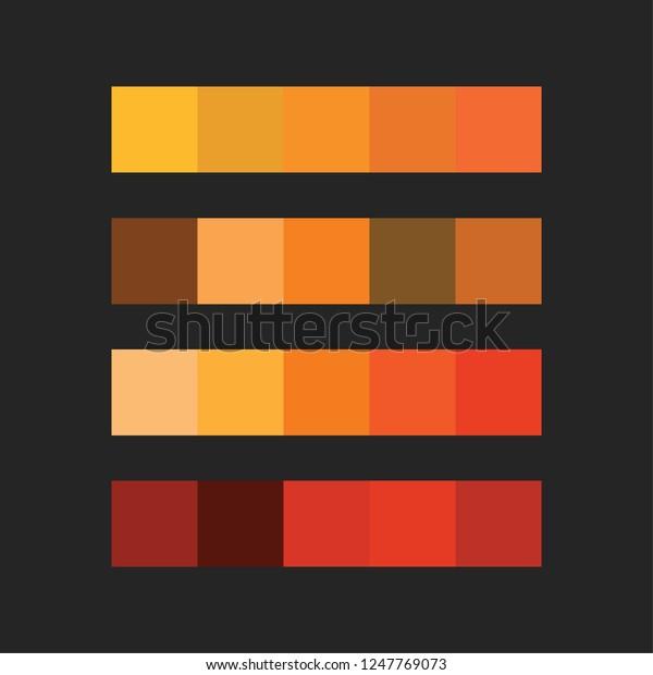 Orange Color Palette Vector Illustration Stock Vector Royalty Free