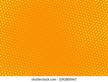Orange comic pop-art halftone background vector