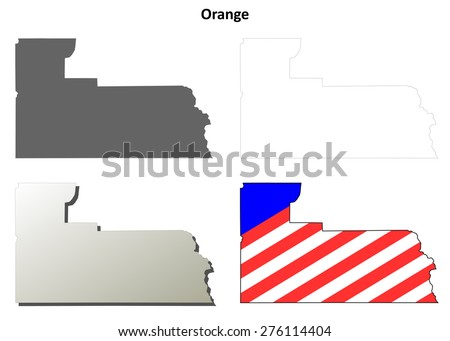 Orange County Florida Map.Orange County Florida Outline Map Set Stock Vector Royalty Free