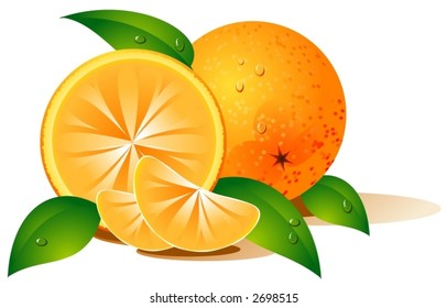 Orange covered with water-drops