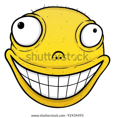 orange crazy smile smile energy drink stock vector royalty free rh shutterstock com Crying Smiley Face Clip Art Mischievous Smiley Face Clip Art