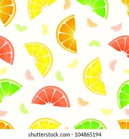 Orange fruit slice package design colorful pattern vector background