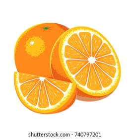 Orange fruit vector.
