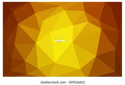 Orange geometric rumpled triangular low poly origami style gradient illustration graphic background. Vector polygonal design for your business.