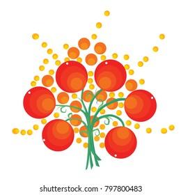 Orange Grapics tree vector