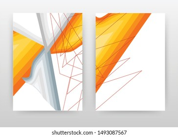 Orange gray design for annual report, brochure, flyer, poster. Abstract orange gray background vector illustration for flyer, leaflet, poster. Business abstract A4 brochure template.
