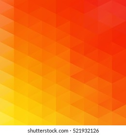 Orange Grid Mosaic Background, Creative Design Templates
