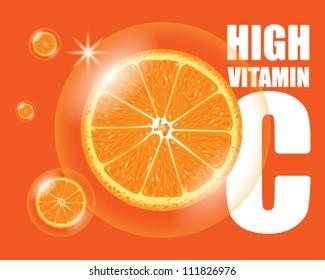 Orange high vitamin C vector