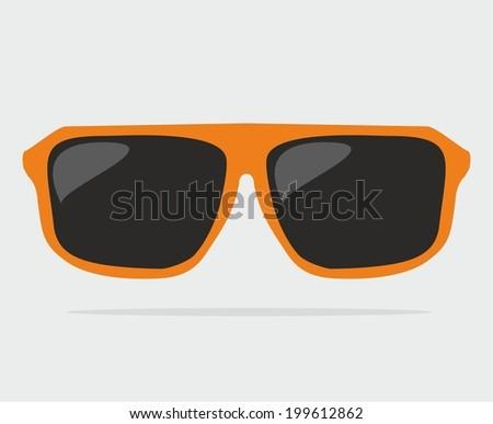 e4332a5a34fe4 Orange Hipster Vector Sunglasses Stock Vector (Royalty Free ...