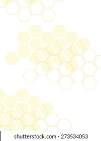 Orange honey comb pattern over white background