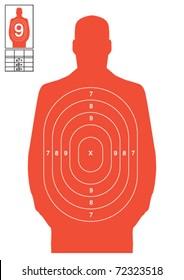 Orange human target vector