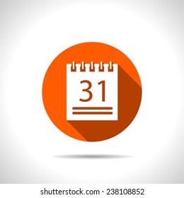orange icon of calendar