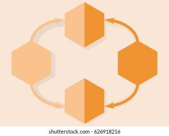 Orange icon flat design for infographic