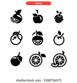 orange icon isolated sign symbol vector illustration - Collection of high quality black style vector icons