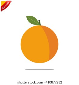orange icon, vector orange icon, isolated orange sign