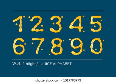 Orange juice alphabet