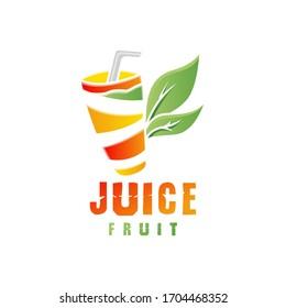 Orange Juice Fruit Logo Design