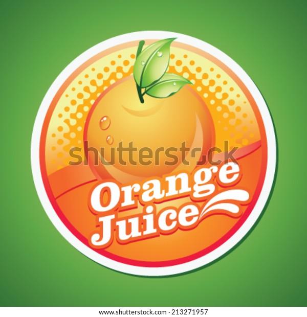 orange juice label