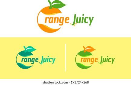 Orange Juice vector logo design. Orange Fruit, vegetable, Creative, Vitamin, Beverage, liquid, tasty, sweet, fresh, food, Realistic Natural Citrus Modern Colorful Logo