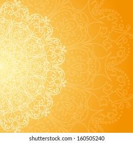 orange lace card