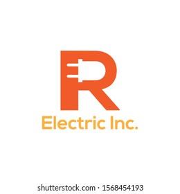 orange letter R logo for electric company