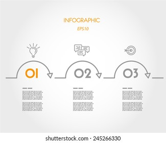 orange linear infographic. infographic concept.