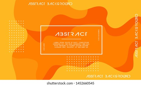 orange liquid color background. dynamic textured geometric elements design with dots decoration. can be used on posters,banner,web and any more