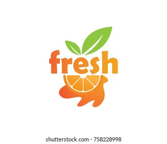 Orange logo design. Vector illustration