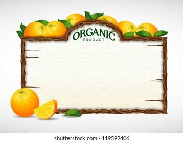 orange menu board
