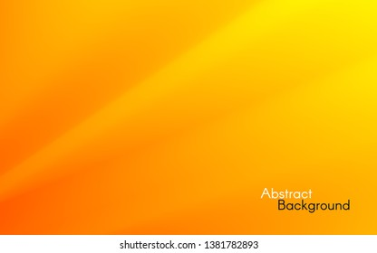 Orange minimal background. Yellow waves concept. Smooth orange lines. Simple design for web or app. Bright color backdrop. Soft fluid gradient. Vector illustration.