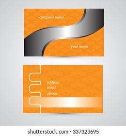 Orange Modern Abstract Business - Card Set | EPS10 Vector Design