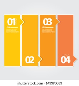 Orange Modern Design template / can be used for infographics / numbered banners / graphic or website layout vector