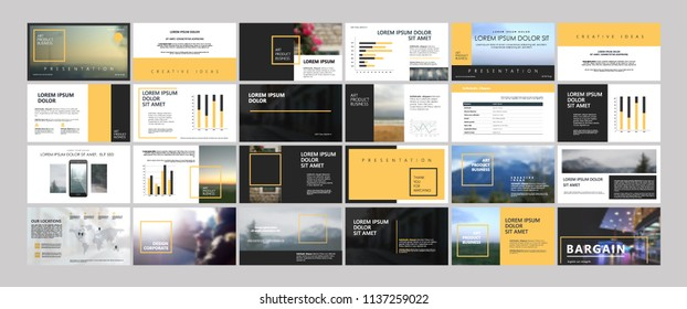 Orange Original Presentation templates or corporate booklet. Use in creative flyer and style info banner, trendy strategy mockups. Simple modern Slideshow or Startup.