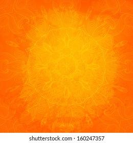 Orange ornamental abstract vector illustration