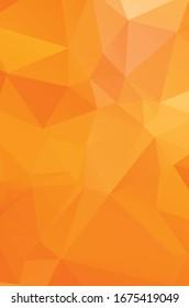 Orange pattern polygonal background. Shining colorful illustration