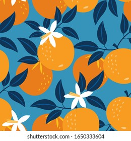Orange pattern. Vector seamless texture.