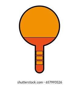 orange Ping pong racket