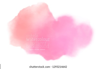 orange pink watercolor on white paper. soft vector gradient. eps 8