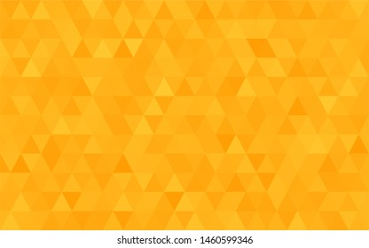 Orange polygonal mosaic background. Used for presentation, information, technology, website, poster, business, work.