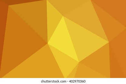 Orange polygonal pattern, which consist of triangles. Geometric background in Origami style with gradient. Triangular design for your business.