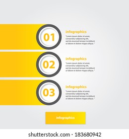 orange progress paper banners / can be used for infographics / numbered banners / horizontal cutout lines / graphic or website layout vector