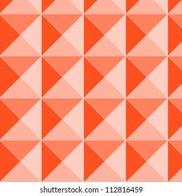 Orange pyramid relief seamless pattern, vector
