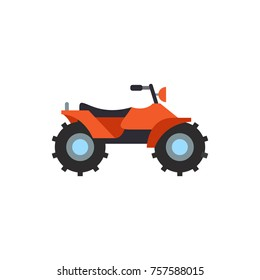 Orange quad bike vector icon